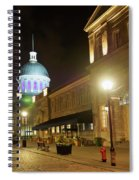 Rue Saint Paul In Old Montreal At Night Spiral Notebook