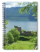 ruins of castle Urquhart on loch Ness Spiral Notebook