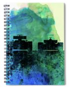 Rush Watercolor Spiral Notebook