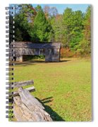 Rustic Double Crib Barn And Split Rail Fence In Cades Cove Spiral Notebook