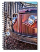 Rusty Old Truck In A Ghost Town In Arizona Spiral Notebook