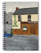 Ryans Pub And Swords Castle Painting Spiral Notebook