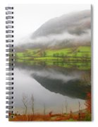 Rydal Water On A Misty Day In December Spiral Notebook