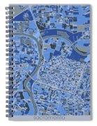 Sacramento Map Retro 5 Spiral Notebook