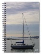 Sailboat In The Bay Area Spiral Notebook