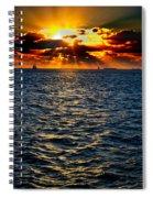 Sailboat Sunburst Spiral Notebook
