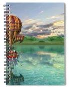 Sailing Away Daydream Steampunk Custom Spiral Notebook