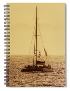 Sailing In The Sunlight Spiral Notebook