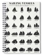 Sailing Vessel Types And Rigs Spiral Notebook