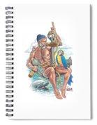 Sailor On Anchor Spiral Notebook