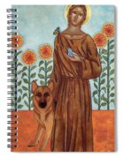 Saint Francis And The Wolf Of Gubbio Spiral Notebook