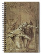 Saint Gregory Praying For Souls In Purgatory  Spiral Notebook