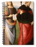 Saint John The Evangelist And Saint Augustine Spiral Notebook