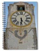 Saint Mary Church Clock Tower In Tavira. Portugal Spiral Notebook