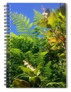 Salal Blooms Amongst The Ferns Spiral Notebook