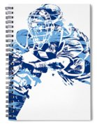 Salvador Perez Kansas City Royals Pixel Art 1 Spiral Notebook
