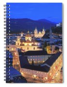 Salzburg At Night Austria  Spiral Notebook