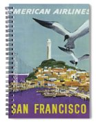 San Francisco American Airlines Spiral Notebook