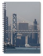 San Francisco Past The Bay Bridge Spiral Notebook