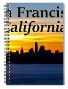San Francisco Sunrise 2x3 Spiral Notebook