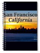 San Francisco Sunrise 2x3 Spiral Notebook