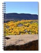 Sandstone Above Golden River Desert Landscape Spiral Notebook