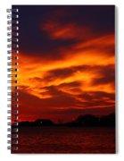 Fire In The Sandusky Sky Spiral Notebook