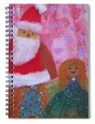 Santa Claus And Guardian Angel - Pintoresco Art By Sylvia Spiral Notebook