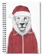 Santa Lion  Spiral Notebook