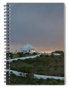 Santuario De Nossa Senhora Da Piedade Welcoming Twilight In Loule Spiral Notebook