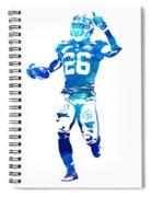 Saquon Barkley New York Giants Water Color Pixel Art 10 Spiral Notebook