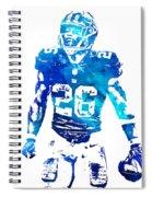 Saquon Barkley New York Giants Water Color Pixel Art 11 Spiral Notebook
