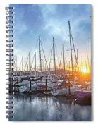 Sausalito California Morning Airs Spiral Notebook