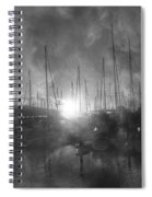 Sausalito California Mystical Magical Harbor Sunrise Spiral Notebook