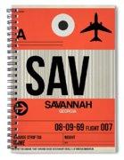 Sav Savannah Luggage Tag I Spiral Notebook