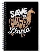 Save The Fluffy Llama Spiral Notebook