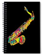 Saxophone Music Instrument Gift For Musician Color Designed Spiral Notebook