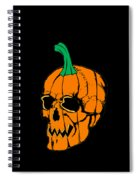 Scary Pregnant Halloween Design  Spiral Notebook