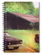 Scenes From The Past - Trucks And Tractors Spiral Notebook
