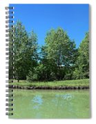Scenic View Of Burgundy Canal Spiral Notebook