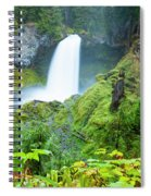 Scenic View Of Waterfall, Portland Spiral Notebook