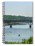 Schuylkill River View - Strawberry Mansion Bridge Spiral Notebook