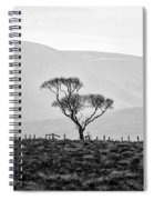 Scottish Highland Tree In Black And White Spiral Notebook
