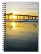 Scripps Pier Golden Sandpipers Spiral Notebook