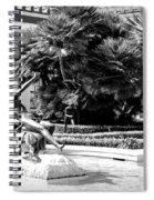 Sculpture Getty Villa Black White  Spiral Notebook