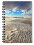 Sea Of Sand - Endless Dunes At White Sands New Mexico Spiral Notebook