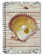 Sea Shell Beach House Rustic Chic Decor IIi Spiral Notebook