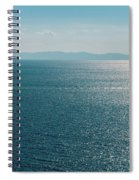 Sea With Two Boats Spiral Notebook