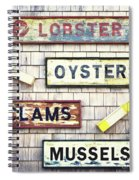 Seafood Signs Spiral Notebook