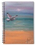 Seagull At Dusk Spiral Notebook